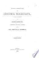 Estudios gramaticales del idioma nahuatl