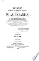 Estudios históricos, climatológicos y patológicos de la islas Canarias