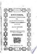 Estudios, históricos y estadísticos, del departamento de Oaxaca