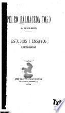 Estudios i ensayos literarios