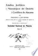 Estudios jeologicos i topograficos del desierto i puna de Atacama
