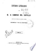 Estudios literarios de A. Cánovas del Castillo