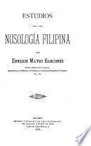 Estudios para una nosología filipina