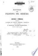 Estudios sobre filosofía del derecho