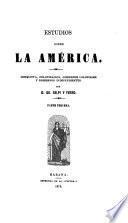 Estudios sobre la América