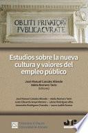 Estudios sobre la nueva cultura y valores del empleo público
