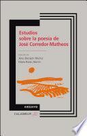 Estudios sobre la poesía de José Corredor-Matheos
