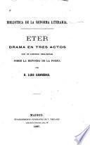 Eter, drama en tres actos