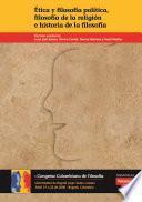 Ética y filosofía política, filosofía de la religión e historia de la filosofía
