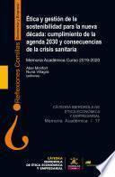 Ética y gestión de la sostenibilidad para la nueva década: cumplimiento de la agenda 2030 y consecuencias de la crisis sanitaria