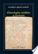 Etimologías inéditas y curiosas