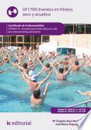 Eventos en fitness seco y acuático. AFDA0210