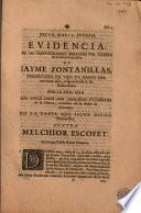 Evidencia de las equivocaciones halladas por Escofet en el discurso juridico de Jayme Fontanillas