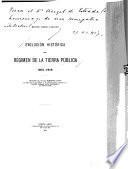 Evolución histórica del régimen de la tierra pública, 1810-1916