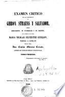 Examen crítico de las doctrinas de Gibbon Strauss y Salvador