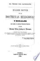 Examen critico de las doctrinas religiosas y morales que enseña la moderna literatura francesa