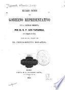 Examen crítico del gobierno representativo en la sociedad moderna por ...