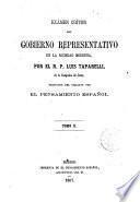 Examen crítico del gobierno representativo en la sociedad moderna, traducido del italiano por El pensamiento español