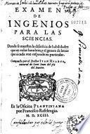 Examen de ingenios para las sciencias