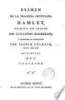 Exámen de la tragedia intitulada Hamlet