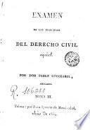 Examen De Los Principios Del Derecho Civil Español, 3
