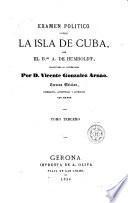 Examen político sobre la isla de Cuba