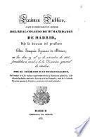 Exámen público, a que se presentarán los alumnos del Real Colegio de Humanidades de Madrid, bajo la dirección del presbítero Don Joaquín Ignacio de Meave, en los días 19 al 27 de setiembre [sic] de 1835, presididos á nombre de la Dirección General de Estudios