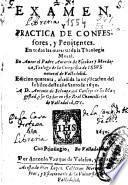 Examen y practica de confessores y penitentes