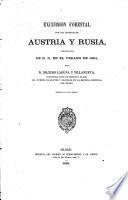 Excursion forestal por los imperios de Austria y Russia verificada de r.o. en el verano de 1864