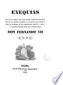 Exequias que la muy noble y muy leal ciudad y reino de Mallorca hizo en la iglesìa Catedral de la isla el dia 23-XII-1833 a la Católica Magestad del Rey nuestro señor Don Fernando VII