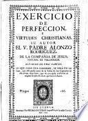Exercicio de Perfección y Virtudes Christianas