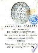 Exercicio piadoso en reverencia de Jesus crucificado