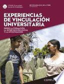 Experiencias de vinculación universitaria desde la formación, la intervención social y la Investigación. (Complexus 10).