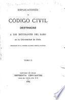 Explicaciones de Código civil destinadas a los estudiantes del ramo en la Universidad de Chile
