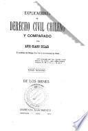 Explicaciones de derecho civil chileno y comparado