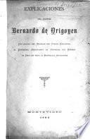 Explicaciones del Doctor Bernardo de Yrigoyen