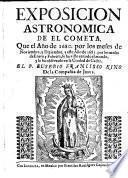 Exposicion astronomica de el cometa