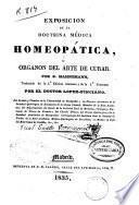 Exposición de la doctrina médica homeopática u Organon del arte de curar