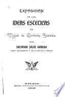 Exposición de las ideas estéticas de Miguel de Cervantes Saavedra
