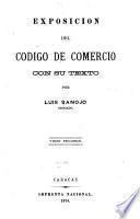 Exposición del Código de comercio, con su texto