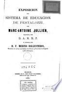 Exposición del sistema de educación de pestalozzi