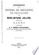 Exposicion del sistema de educacion de Pestalozzi