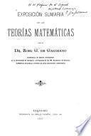 Exposición sumaria de las teorías matemáticas