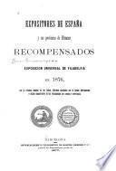 Expositores de España y sus provincias de ultramar recompensados en la exposición