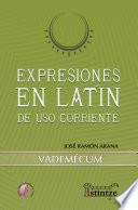 Expresiones en latín de uso corriente