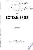Expulsion de extranjeros (Apuntes).