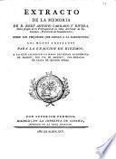 Extracto de la memoria de D. Josef Antonio Carrasco y Rivera ... sobre los prejuicios que causan a la agricultura los modos adoptados para la exacción de diezmos ...