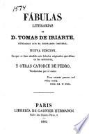 Fábulas literarias, cotejadas con el borbador original