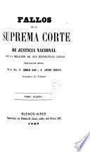 Fallos de la Corte Suprema de Justicia de la Nación