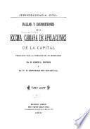 Fallos y disposiciones de la exma. Cámara de Apelaciones de la Capital